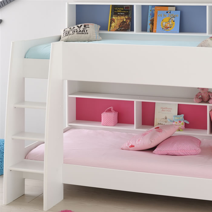 Kids Avenue Tam Tam White Bunk Bed With Shelves The Home And