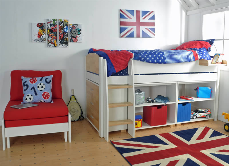 Kids avenue urban midsleeper bed 10 for Urban home beds