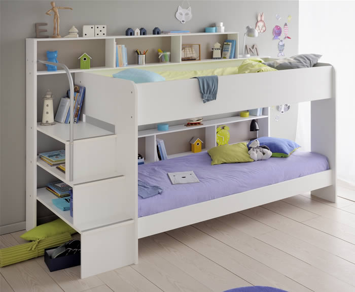 Kids Avenue Bibop 2 White Bunk Bed By Parisot The Home