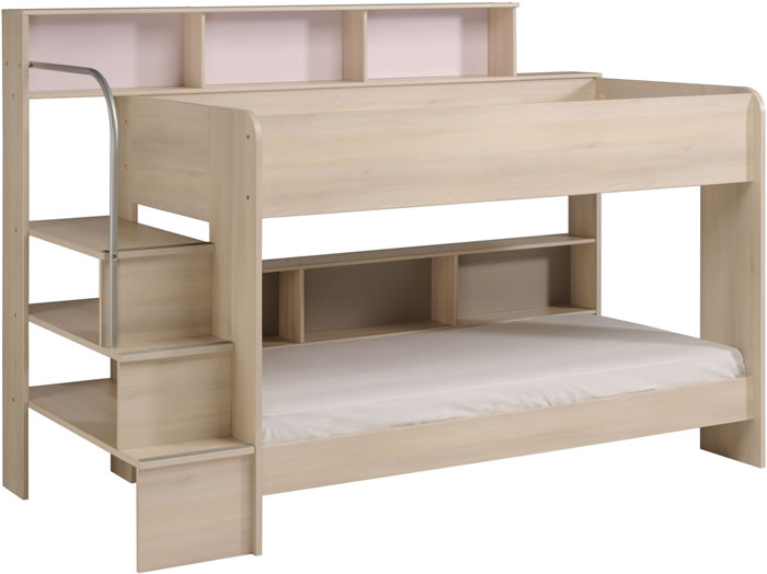 Kids Avenue Bibop 2 Bunk Bed With Storage Shelves The Home And Office Stores