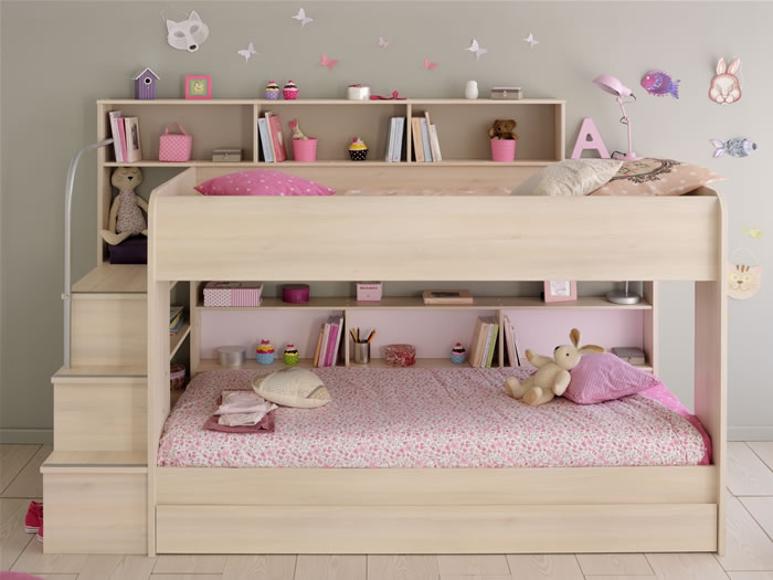 Kids Avenue Bibop 2 Bunk Bed With Storage Shelves The