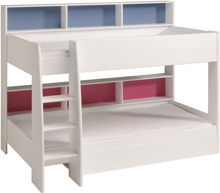 Parisot Tam Tam white bunk bed with shelves