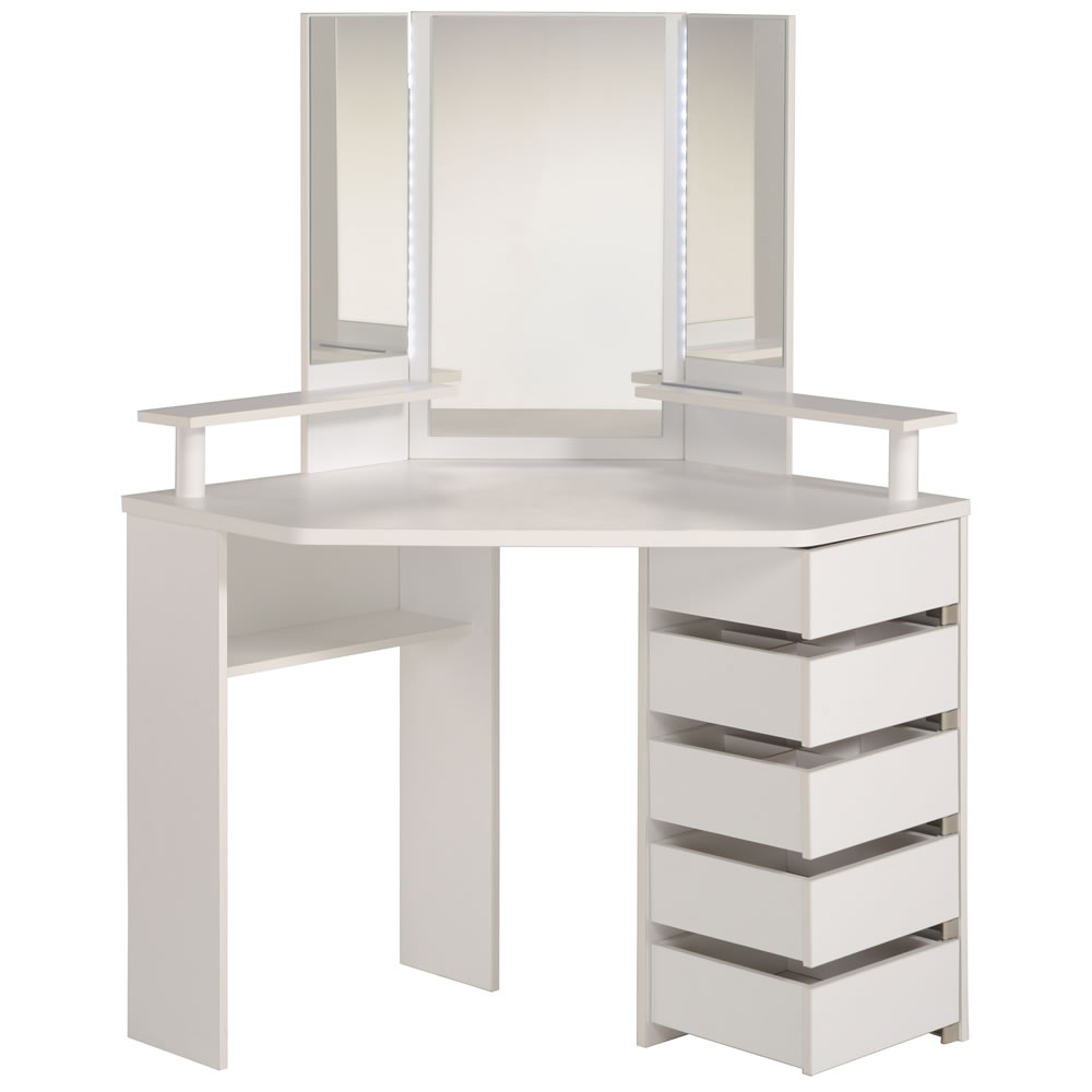 Parisot beauty bar corner dressing table for Dressing table