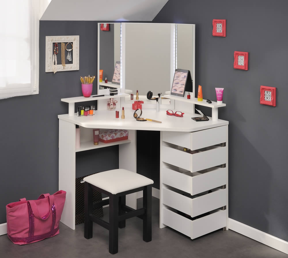 Parisot beauty bar dressing table stool for Dressing table
