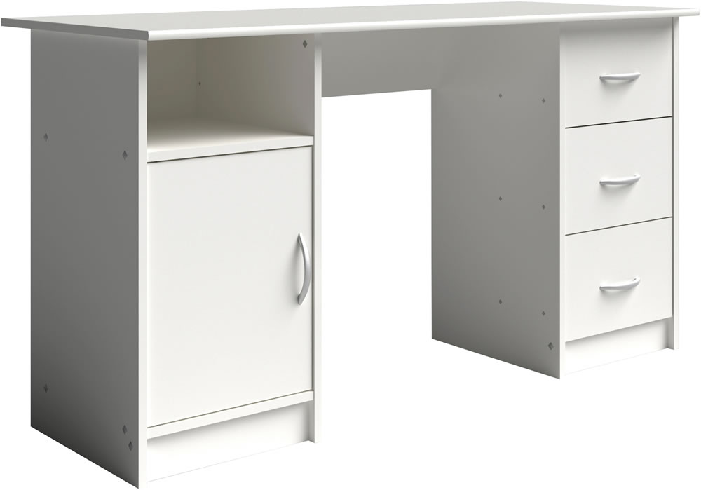 Parisot Buster white desk with storage
