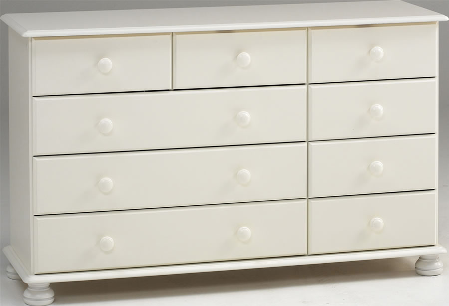 White Chest Of 9 Drawers 3 Plus 6 Steens Richmond