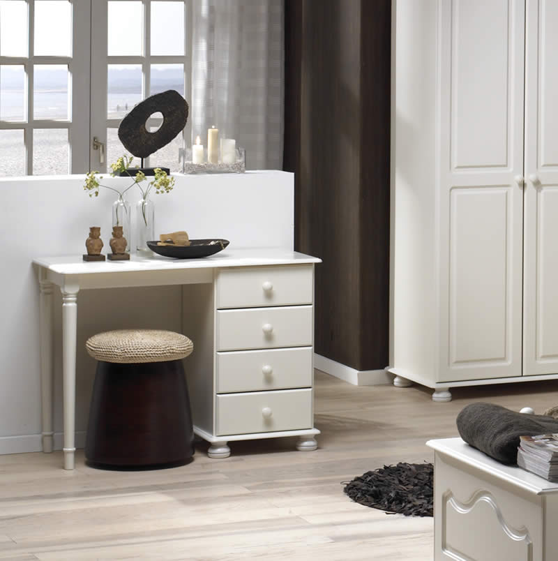 Gentil Steens Richmond 4 Drawer Dressing Table In White
