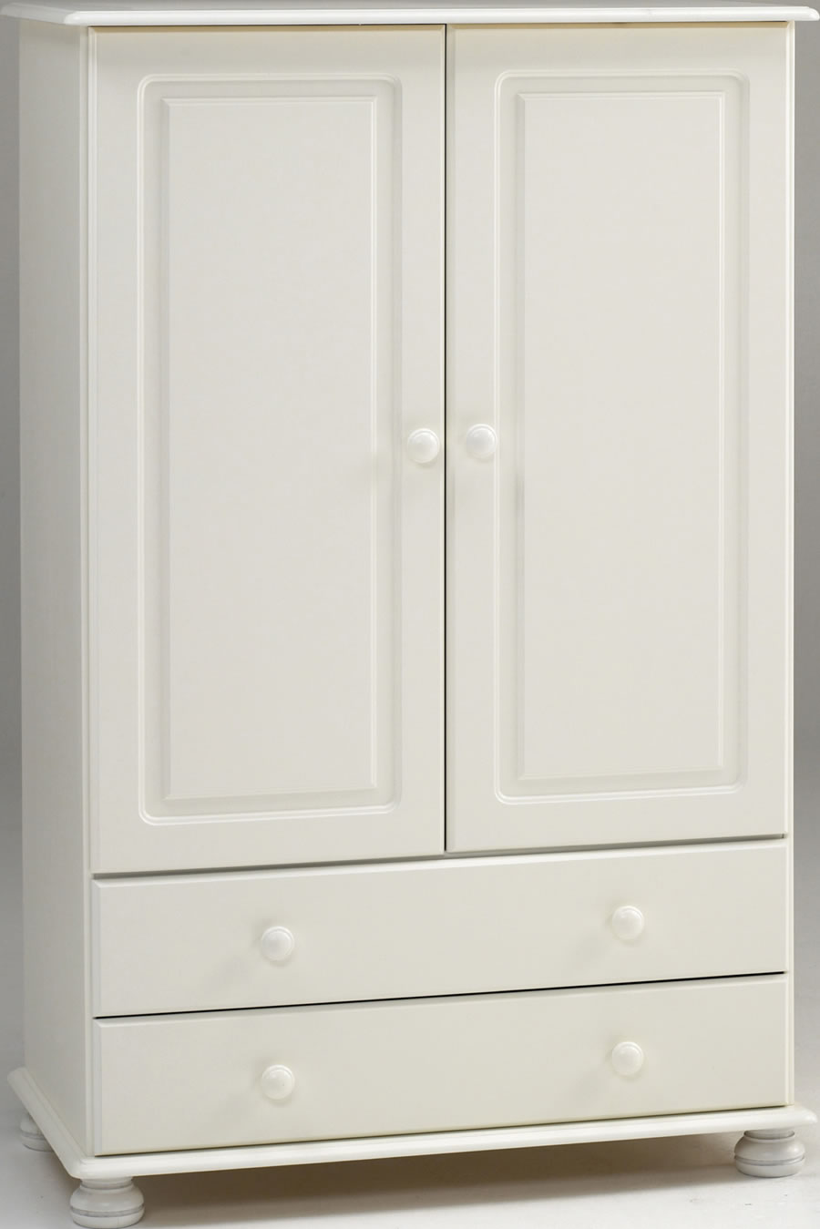 steens richmond 2 door 2 drawer combi wardrobe in white - White Wardrobe
