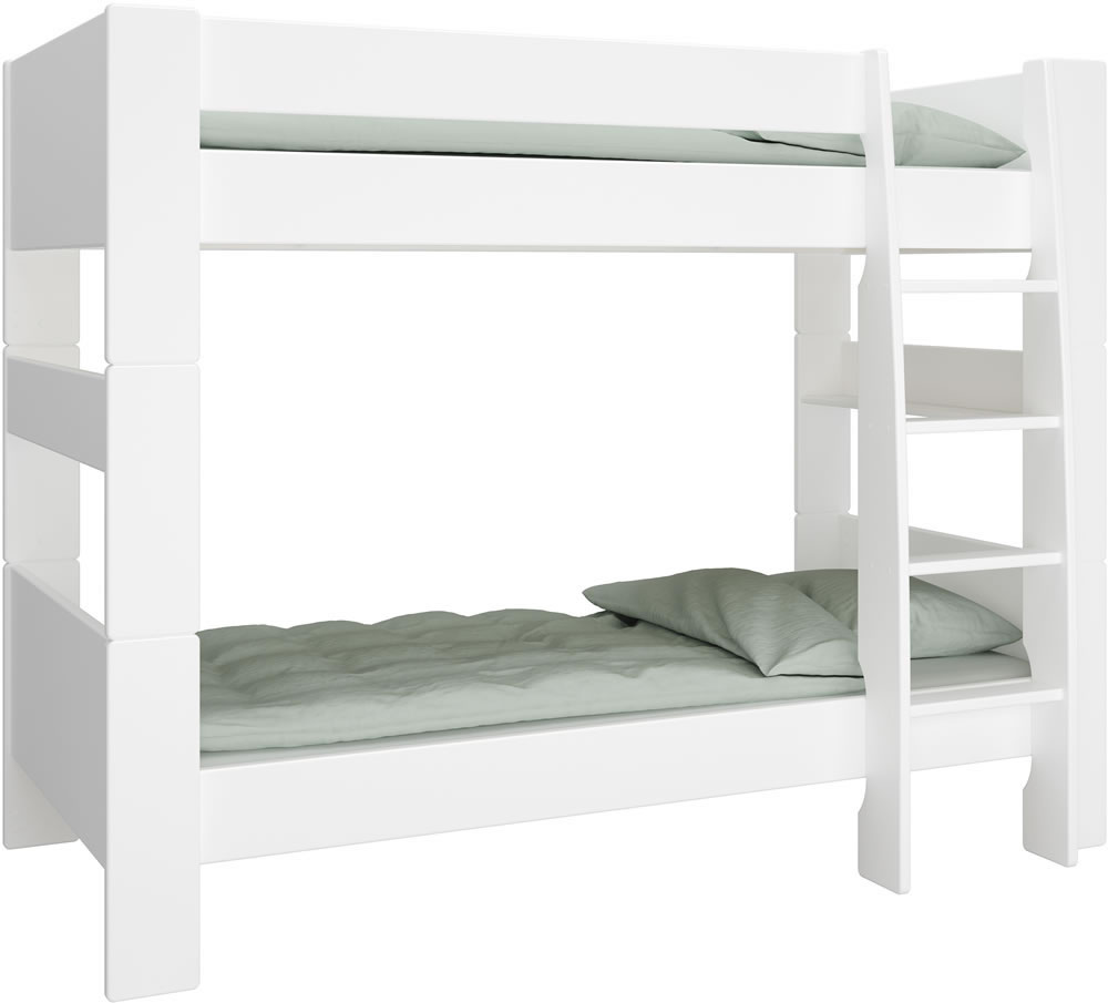White Bunk Beds Mdf Steens For Kids