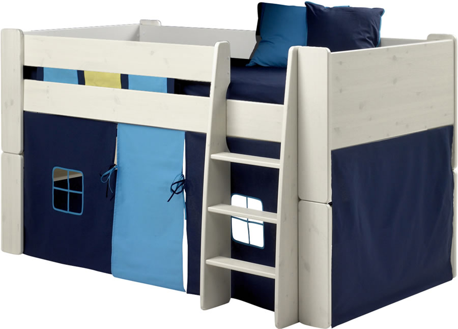 steens for kids mid sleeper tent in dark and light blue the home and office stores. Black Bedroom Furniture Sets. Home Design Ideas