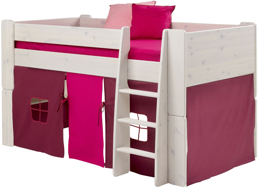 steens for kids mid sleeper tent in purple and pink. Black Bedroom Furniture Sets. Home Design Ideas