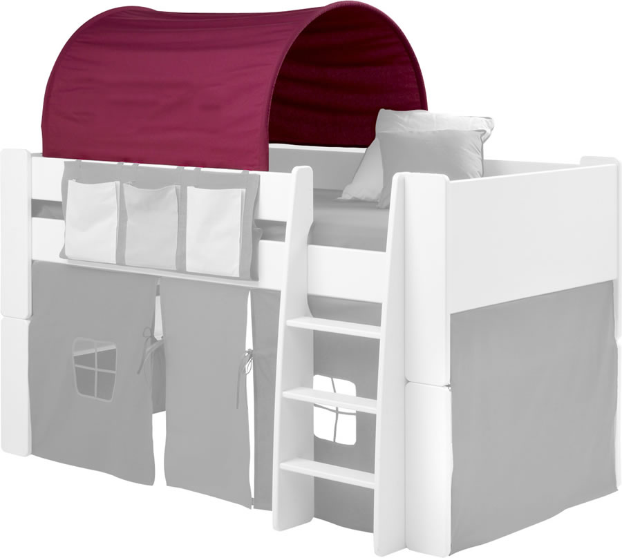 steens for kids mid sleeper tunnel in purple. Black Bedroom Furniture Sets. Home Design Ideas