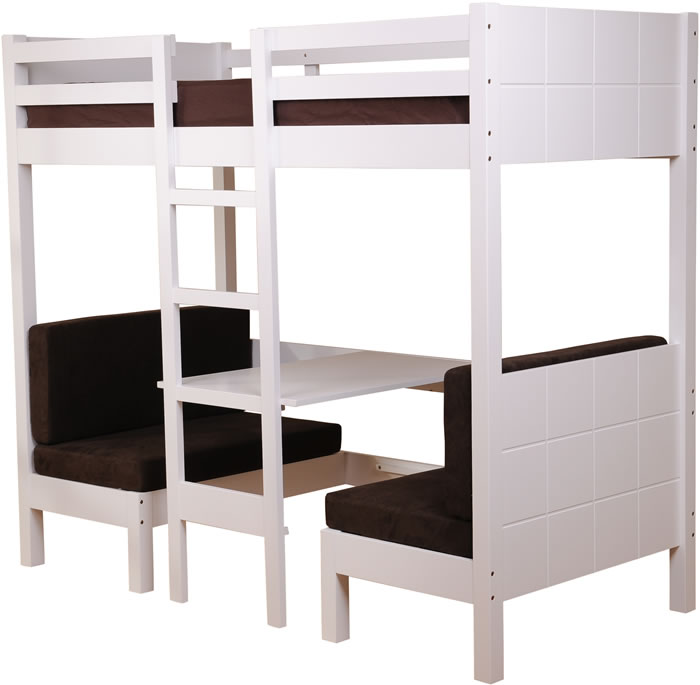 Sweet Dreams Play White High Sleeper Bed