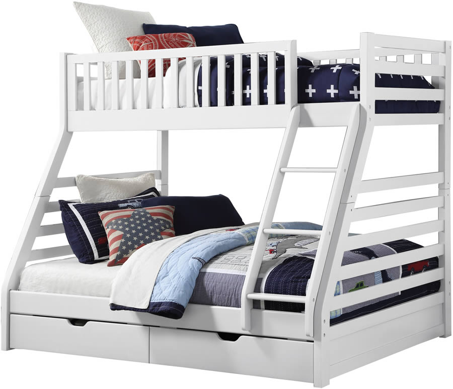 sweet dreams states white triple bunk bed the home and office stores. Black Bedroom Furniture Sets. Home Design Ideas