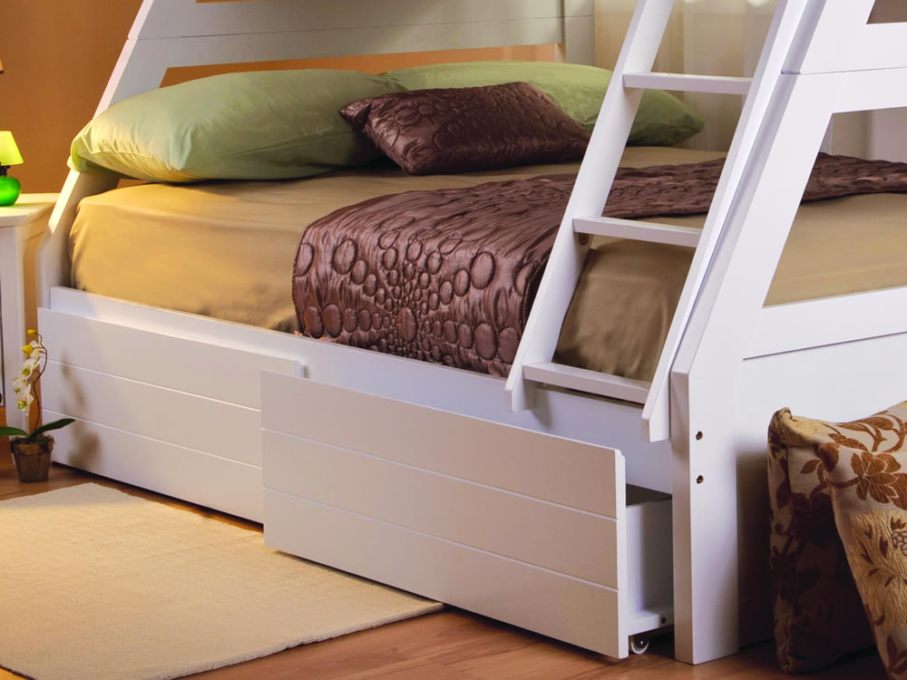 Sweet Dreams Epsom White Triple Bunk Bed The Home And Office Stores