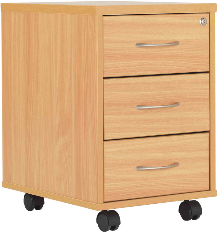 tc office start deluxe beech 3 drawer mobile pedestal