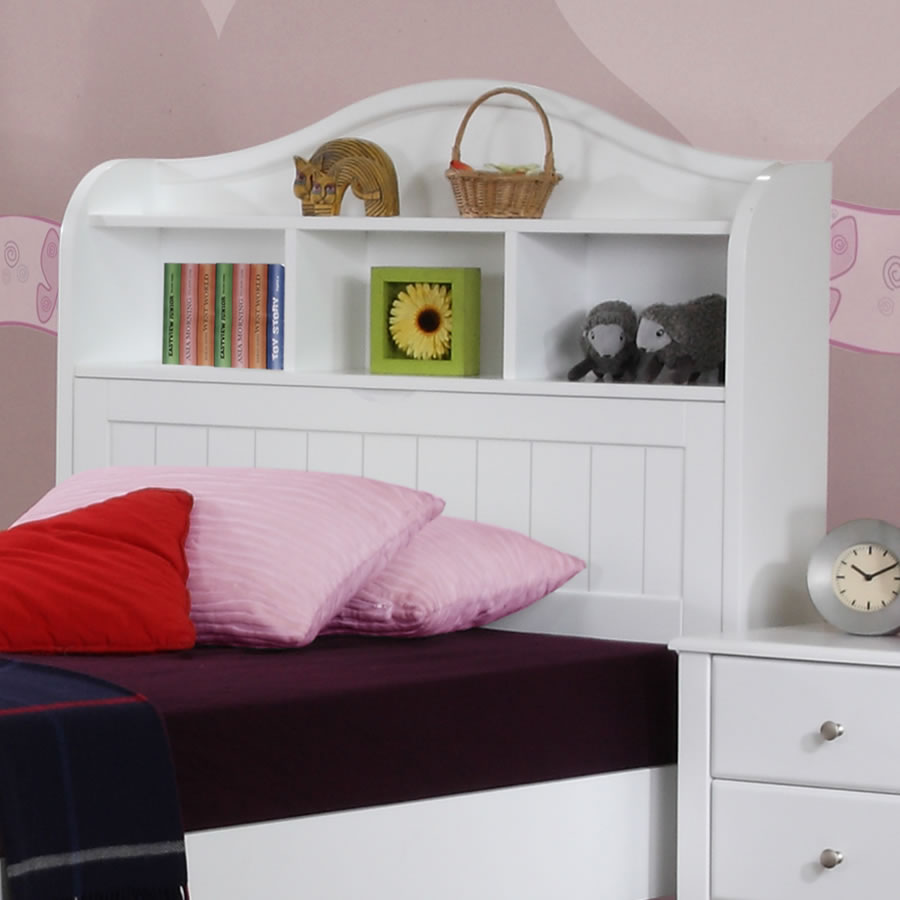 Alexia Childrens White Storage Bed