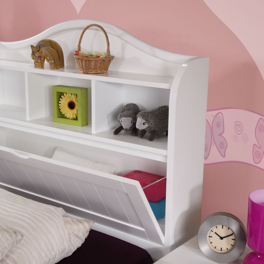 Alexia Children 39 S White Storage Bed The Children 39 S Furniture Compan