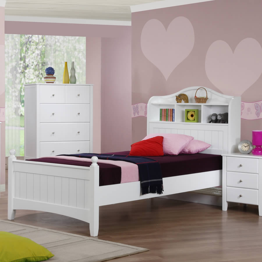 alexia children 39 s white storage bed the children 39 s. Black Bedroom Furniture Sets. Home Design Ideas