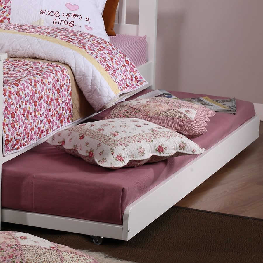 children 39 s white single trundle bed the children 39 s. Black Bedroom Furniture Sets. Home Design Ideas