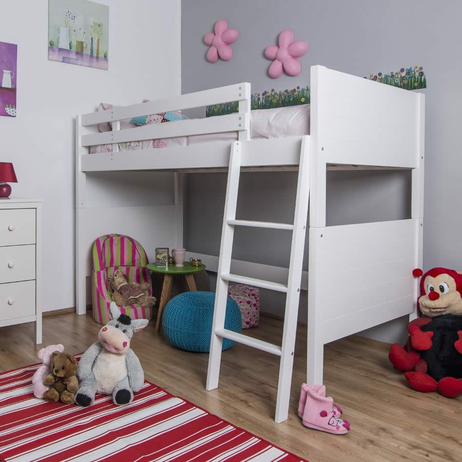 jango children 39 s white high sleeper bed the children 39 s. Black Bedroom Furniture Sets. Home Design Ideas