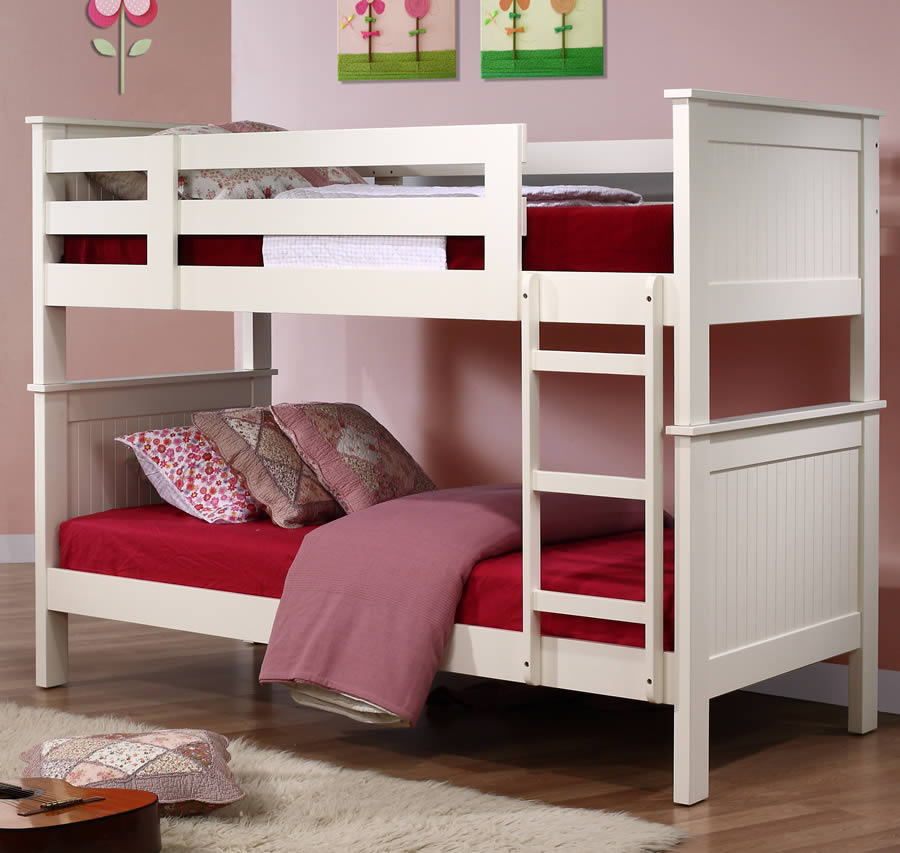 Murphy Children 39 S White Bunk Bed The Children 39 S Furniture Company
