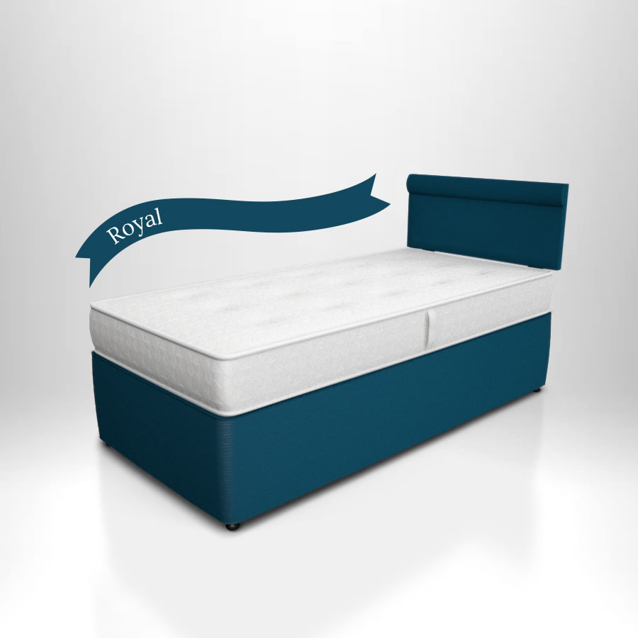 Potter divan children 39 s single bed the children 39 s for Single divan beds with mattress and headboard