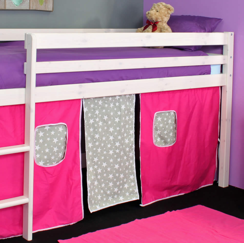 971a12c7e1c2 Hit 1 Mid Sleeper Bed with Pink Play Tent