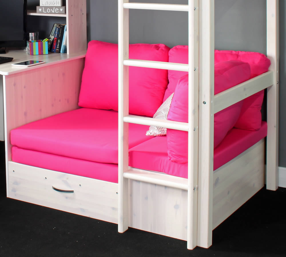 Hit 7 high sleeper bed with pink chair bed for High sleeper bed