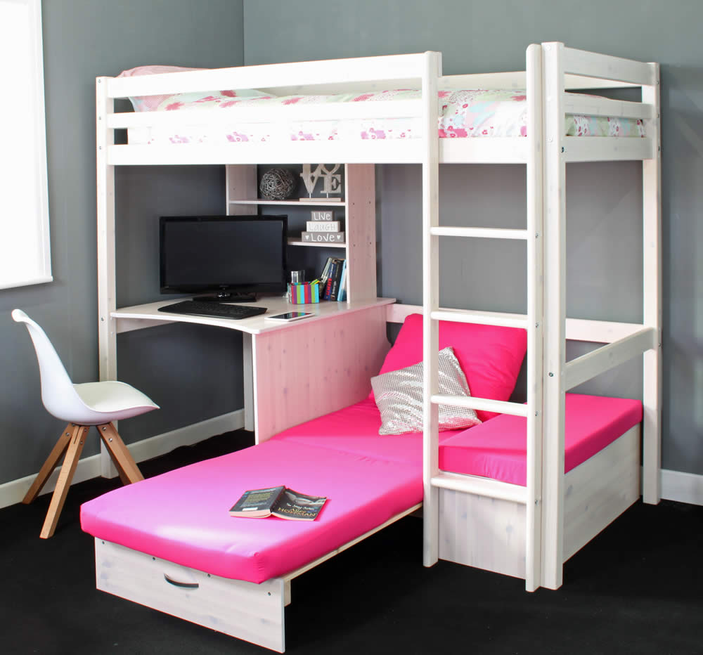 Surprising Hit 7 High Sleeper Bed With Pink Chair Bed Caraccident5 Cool Chair Designs And Ideas Caraccident5Info