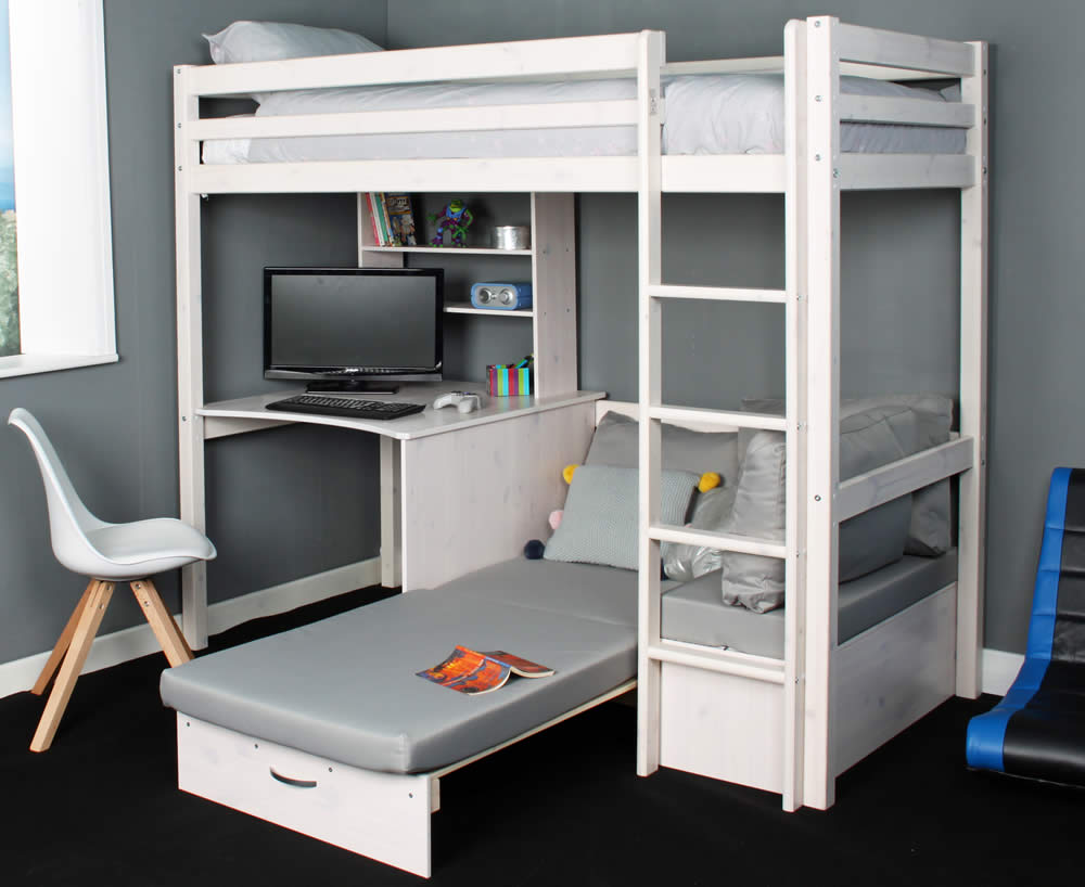 Hit 9 high sleeper bed with grey chair bed for High sleeper bed
