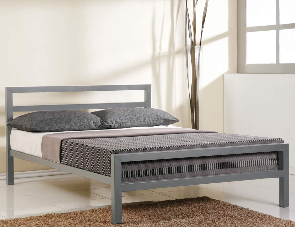 Modern Metal Bed Frame Decor
