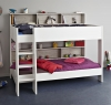 Kids Avenue Tam Tam 3 white bunk bed with loft grey panels