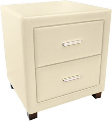 Time Living Dorset Cream 2 Drawer Bedside Cabinet