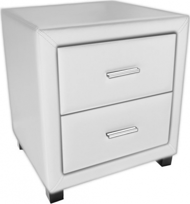 Time Living Dorset White 2 Drawer Bedside Cabinet