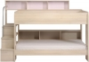 Kids Avenue Bibop 2 bunk bed with storage shelves