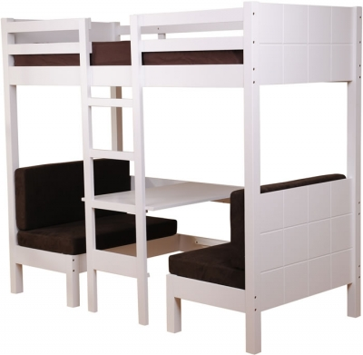 white high sleeper bed sweet dreams play. Black Bedroom Furniture Sets. Home Design Ideas