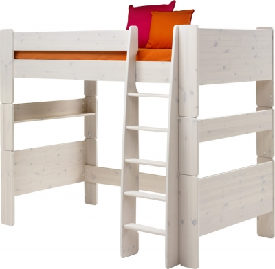 Steens For Kids high sleeper bed in whitewash
