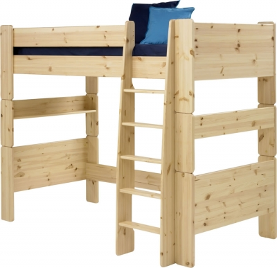 Steens For Kids high sleeper bed in natural pine
