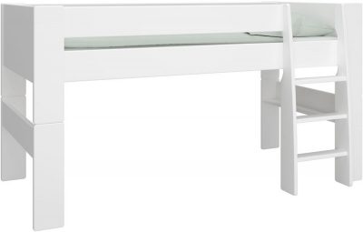 Steens For Kids mid sleeper bed in white MDF