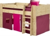 Steens For Kids Mid Sleeper Tent in Purple and Pink