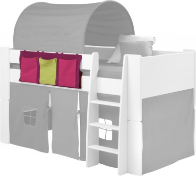 Steens For Kids Mid Sleeper 3 Pocket Rail Tidy in Pink