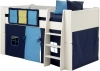 Steens For Kids Mid Sleeper 3 Pocket Rail Tidy in blue