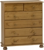 Steens Richmond 2 plus 4 drawer chest in pine