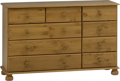 Steens Richmond 9 drawer chest in pine