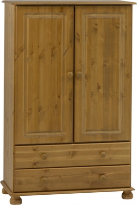 Steens Richmond 2 door 2 drawer combi wardrobe in pine