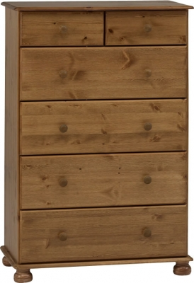 Steens Richmond 2 plus 4 drawer deep chest in pine