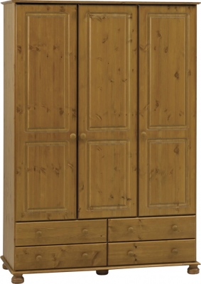 Steens Richmond 3 door 4 drawer wardrobe in pine