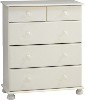 Steens Richmond 2 plus 3 drawer deep chest in white