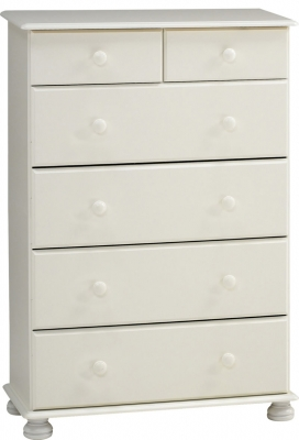 Steens Richmond 2 plus 4 drawer deep chest in white
